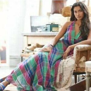 POLO Ralph Lauren Vibrant Plaid Wrap Maxi Dress
